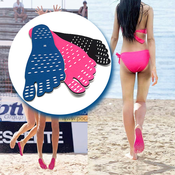 Unisex Beach Foot Pads, Stick on Soles, with Anti-Slip and Waterproof Design (2 Pairs)