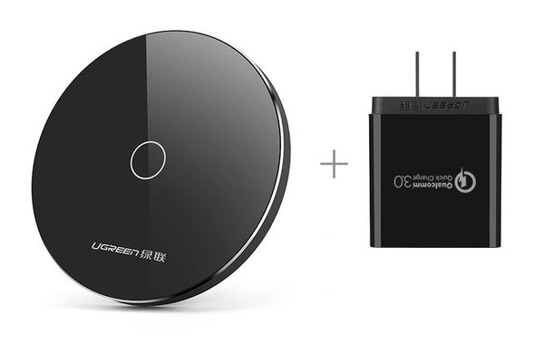 Smart Dual-Mode Fast Wireless Charger for iPhone 8/X and Samsung