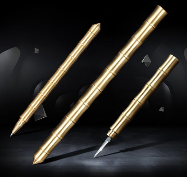 The 3rd Generation Multi-function Brass Defensive Pen inspired by Bamboo