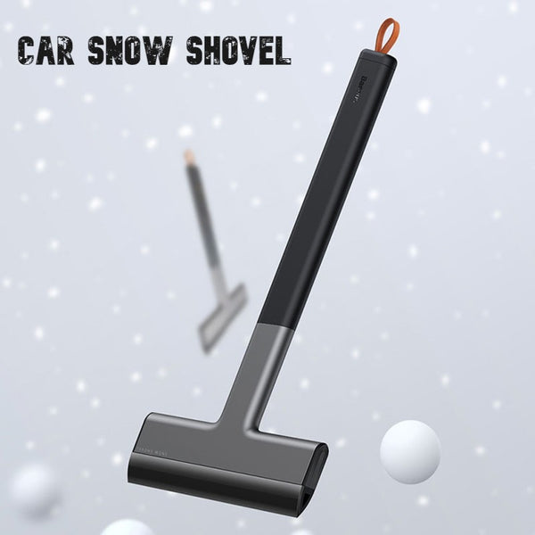 Multifunctional Snow Shovel for Car, with Long Handle, Anti-scratch & Hanging Loop, for Sedan, SUV & More