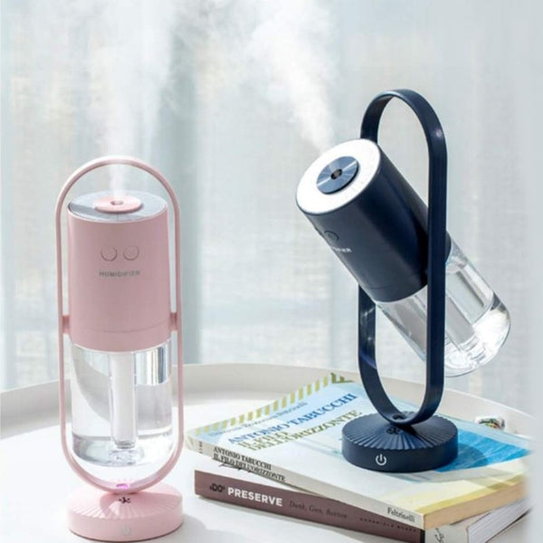 200ML Negative Ion Purification Air Humidifier, with Adjustable Angle, Silent Design, Deep Moisturizing and Colorful Atmosphere Lights, for Home & Office