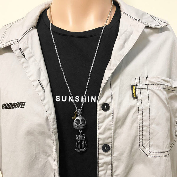 Cool Hip-pop Alien Robot Necklace, with 70cm Long Chain, for Men & Women