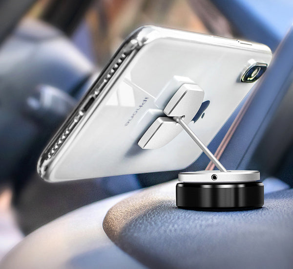 Universal Re-attachable Car Phone Mount, Three Ways To Fix: Sticker, Magnet & Buckle