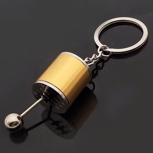 Creative Cool Keychain with Six-Speed Manual Transmission Shift Lever and Key Ring, Best Gift for the Car Lover