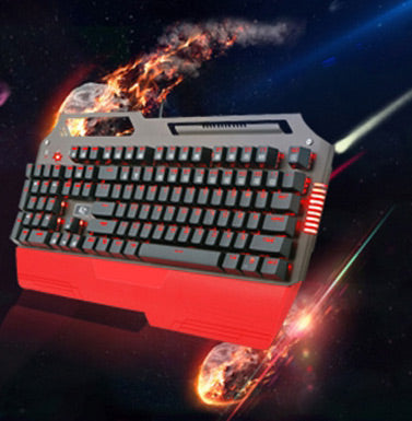 Waterproof Mechanical Keyboard with Dynamic Red Underglow - Play and Wash as Normal