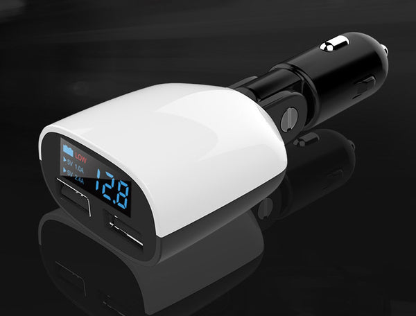 Dual Port USB Car Charger with LED Display - Keep You and Your Devices as Safe as Possible