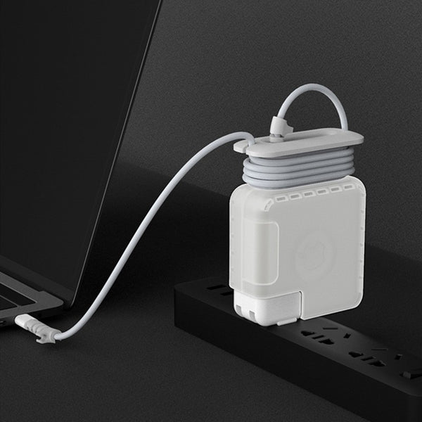 MacBook Power Adapter Protective Case, with Cord Winder and Wire Thread, Compatible with Various Models