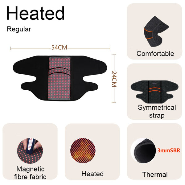 Far Infrared Thermal Knee Warmer, with Super Warm Fabric & Bionic Carapace Design, for Winter, Travel & Outdoors