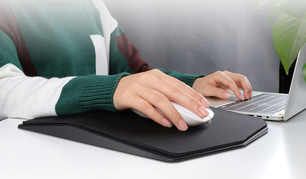 Ergonomically Designed Mouse Pad With Wrist Support & Pain Relief