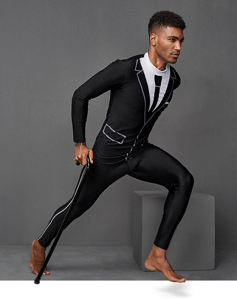 Men Full Body Long Sleeve Long Pants Diving Suit, For Surfing, Swimming, Boarding & Hiking