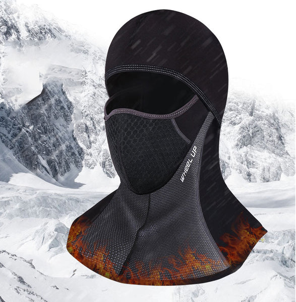 2-in-1 Windproof Thermal Fleece Full Face Mask & Head Hood for Motorcycle, Ski & More