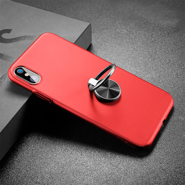 Shock-endurable Ring Holder Case for iPhone X