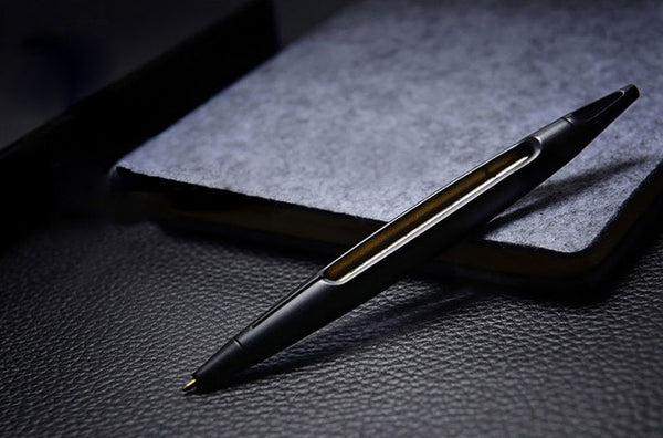 Handsome See-through Metal Ballpoint Pen That Will Accompany You for Life