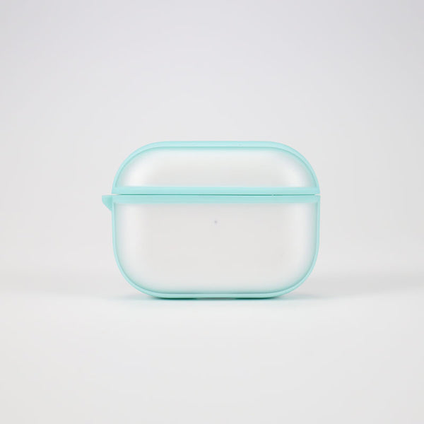 Transparent Airpods 1/2 / Pro Case with Fingerprint Resistant, Matte Surface, Hybrid TPU Frame, Keychain Hole, Compatible with Wireless Charging