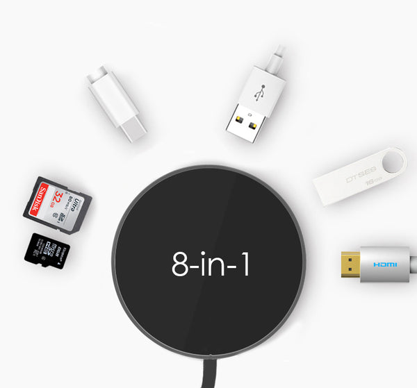 Everything Included Wireless & Wired Hub - USB/Type-C/HDMI/TF