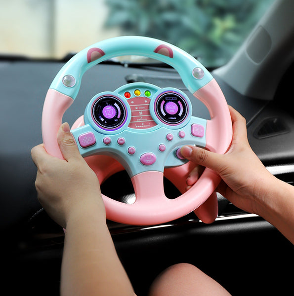 Detachable Steering Wheel Simulator with Music, Signal, Nano Sucker, Gift for Girlfriend, Children & Your Copilot