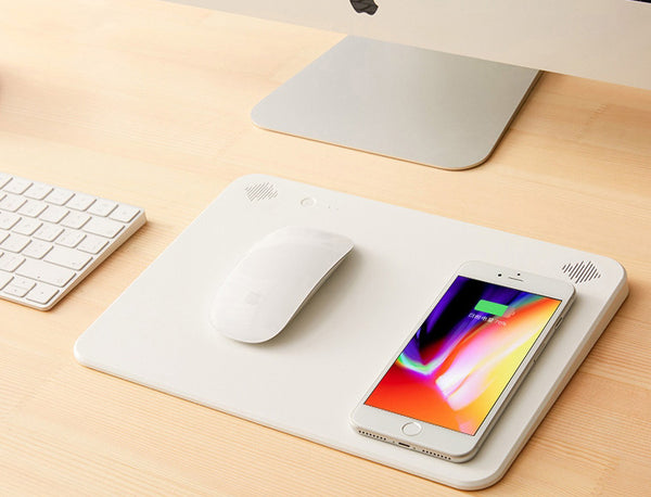 A Genius Mouse Pad That Is Also a Bluetooth Speaker, Power Bank & Wireless Charging Pad