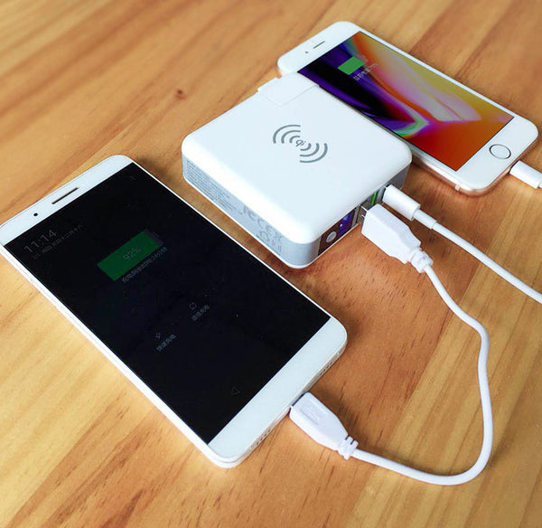 When Universal Adapter, Power Bank & Wireless Charging Pad Come Together - Home to All Your Gadgets