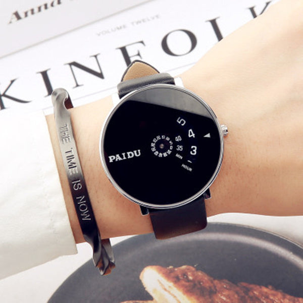 Fashion Minimalist Wrist Watch, with 43mm Round Dial and Stainless Steel/Leather/Cloth Band, for Men and Women