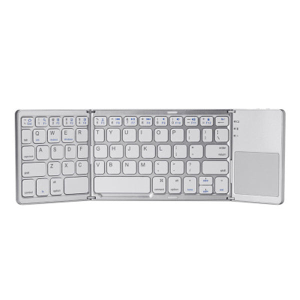 Pocket-Sized Tri-Folded Rechargeable Bluetooth3.0 Keyboard with Sensitive Touchpad Mouse, for Tablets, Smartphones, Laptops, PC and More