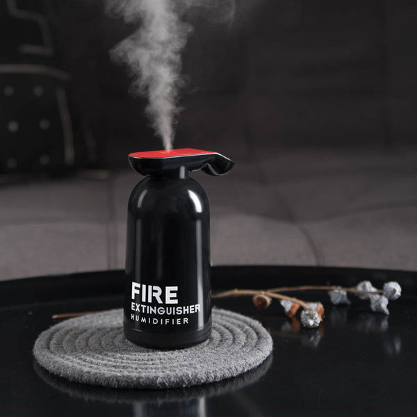 Portable USB Humidifier, with Unique Fire Extinguisher Shape & 200ml Clear Water Tank, for Car, Home & Office