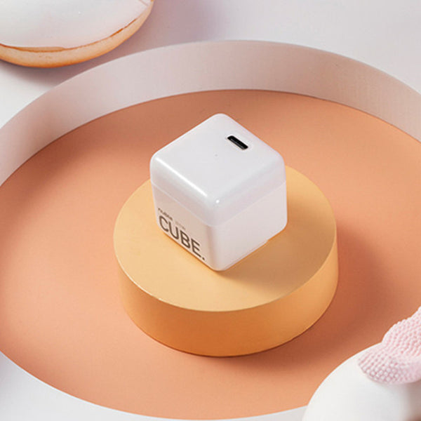 Mini Cube 20W Fast Charging Wall Charger, with Foldable Plug & Compact Size, for iPhone & Android Devices