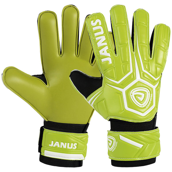 Goalkeeper Gloves with Finger Support, Anti-Slip Palm and Soft PU Hand Back, for Men & Women, Youth & Adult