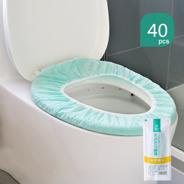 Disposable Toilet Seat Covers, with 360° Coverage, Individually Packed, Non-woven Material and Waterproof PE Film, for Travel and Public Restrooms
