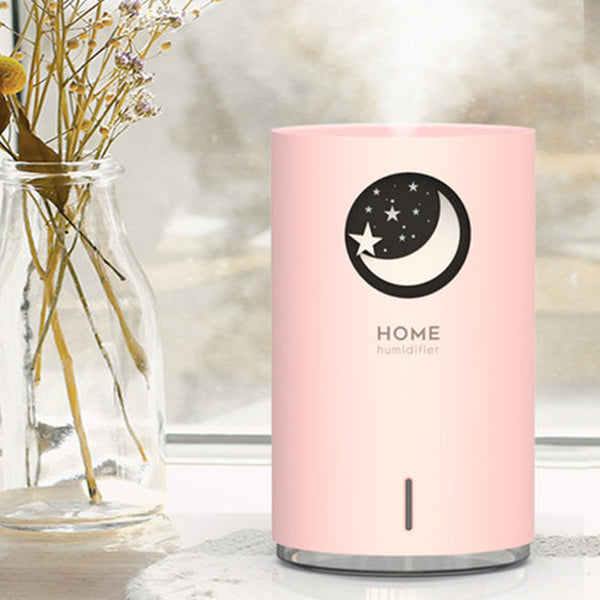 Portable Humidifier with Adjustable Mist Mode, Large Capacity Water Tank, 7-Color LED Light and Auto Shut-off Design, for Bedroom, Home, Office