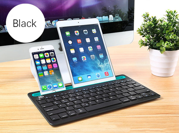 Portable Bluetooth Keyboard with Independent Switch - Turn Your Phone/Tablet into Laptop