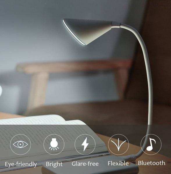 Simplify Your Desk Space with Spiral Bluetooth Speaker Lamp