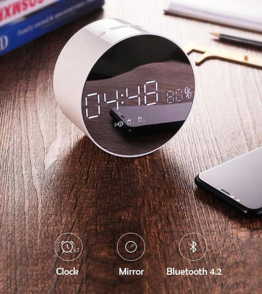 Bluetooth Speaker Mirror with Perfect Lighting & Timing