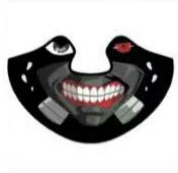 Voice-Activated Cold Light LED Scary Mask, for Disco, Party, Bar, Atmosphere Prop