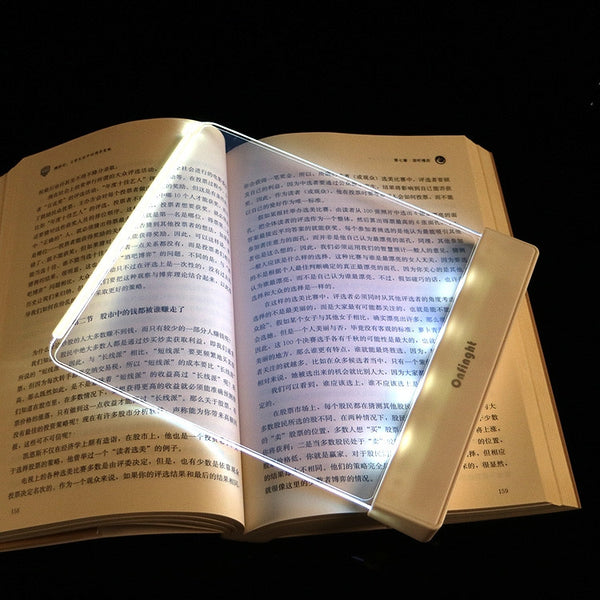 Night Vision Reading Panel Slim Page Led Light Book