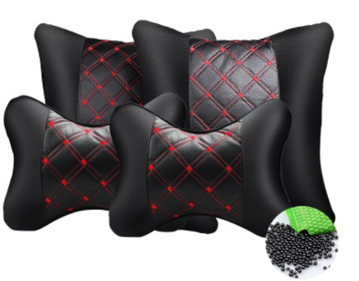 Car Pillow Set With Head Pillow And Lumbar Pillow, Comfortable & Soft, For Travel Car Seat & Home