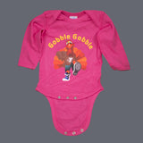 Infant Lap Shoulder Long-Sleeve Tommy the Turkey Bodysuit