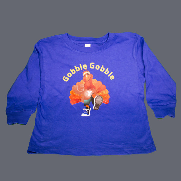Toddler Fine Jersey Long-Sleeve Tommy the Turkey T-Shirt