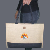 Tom the Turkey Jute Box Tote