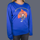 Ladies' Sport Performance Long-Sleeve Tommy the Turkey Tee Shirt