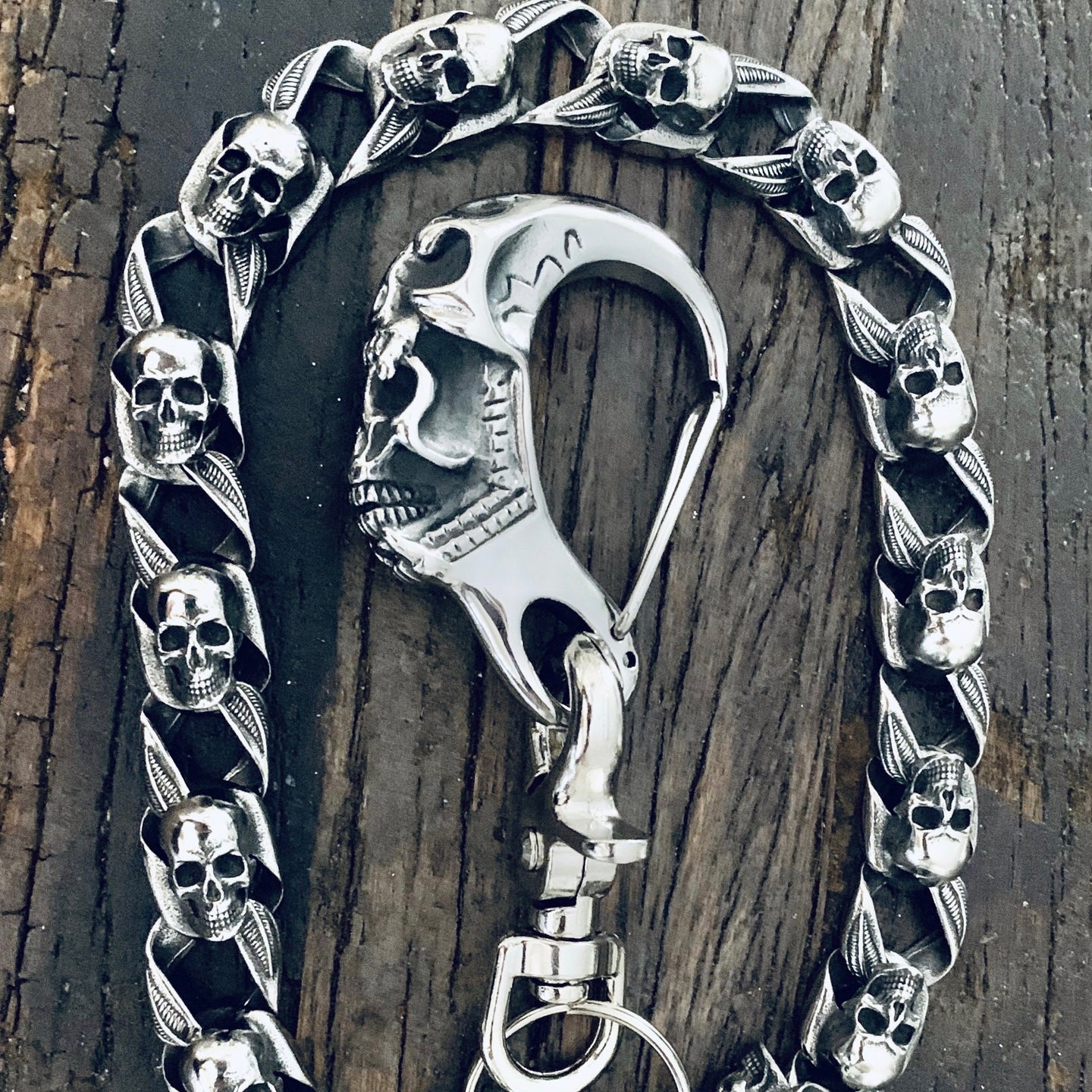 Sanity Jewelry stainless steel and biker wallet chain and badass wallet chains