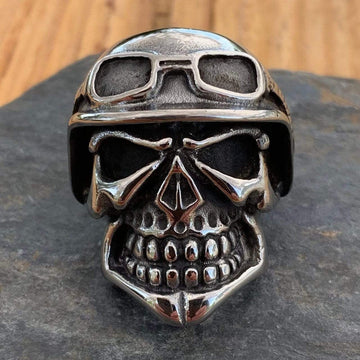Bone Crusher Collection - Cruiser - Sizes 9-16 - R12 Ring Biker Jewelry Skull Jewelry Sanity Jewelry Stainless Steel jewelry