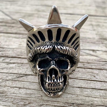 Bone Crusher Collection - Lady Liberty - Sizes 9-17 - R129 Ring Biker Jewelry Skull Jewelry Sanity Jewelry Stainless Steel jewelry