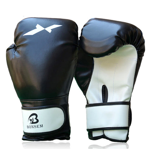 Boxing Gloves PU Leather Full Mitts Mitten