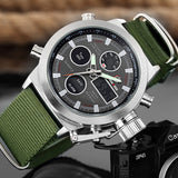 Water Resistant Military  Watch
