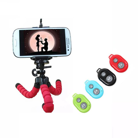 Camera Mini Flexible Tripod Stand +Remote Control