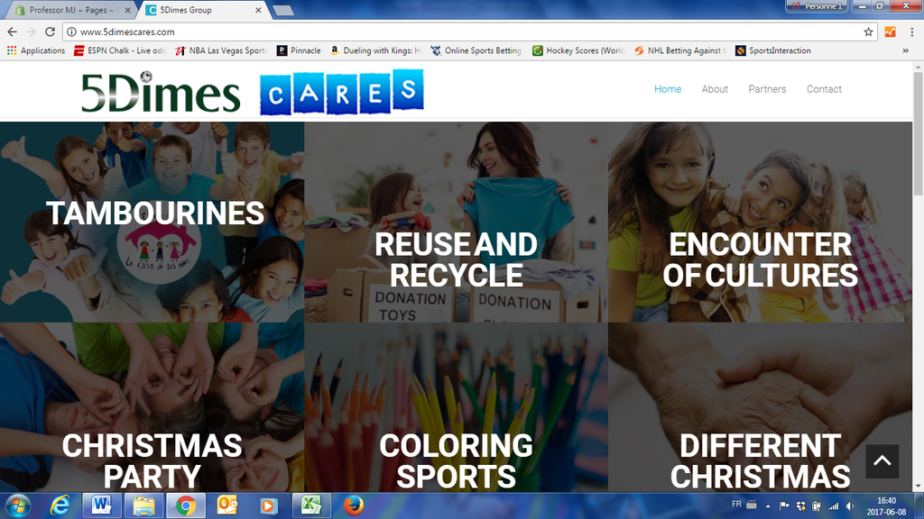 The 5Dimes Care Project website