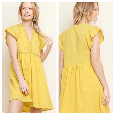 Yellow Boho Dress- Tomato Superstar