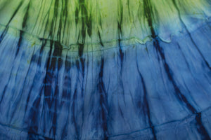 Green & Blue Tie Dye Halter Dress - Tomato Superstar