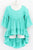 Radiant Ruffle Tunic Dress in Mint - Tomato Superstar