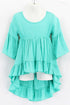 Mint High Low Ruffle Tunic Dress